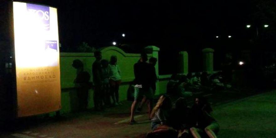 Kos'ta deprem sonrası yaşananlar kamerada!..