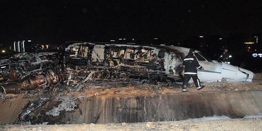 Atatürk Havalimanı'nda özel jet kazası