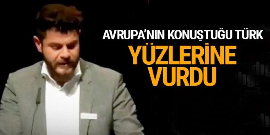 Berlin'de Batının ikiyüzlülüğünü yüzlerine vuran Türk