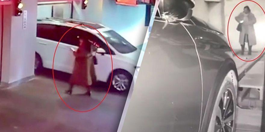 Dalgın kadının başına gelen inanılmaz kaza!