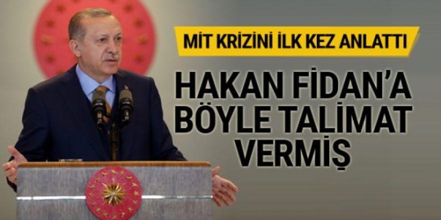 Erdoğan Fidan'a verdiği talimatı açıkladı!