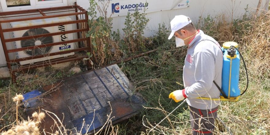 Gaziantep'te sinek ve haşereye karşı 120 kişilik ilaçlama ekibi