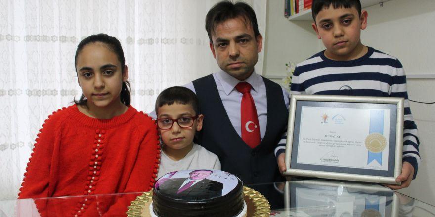 Cumhurbaşkanı'nın doğum gününü kutladı,